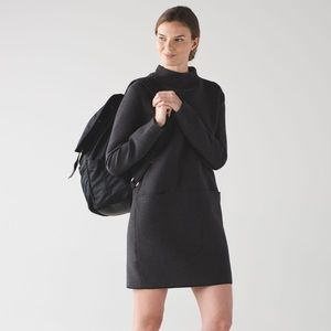 Lululemon City Bound Dress Heathered Black